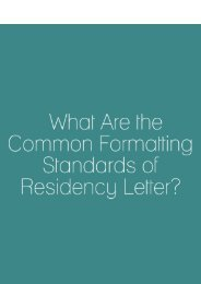 What Are the Common Formatting Standards of the Residency Letter
