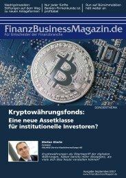 FBM / Kryptowährungsfonds: Eine neue Assetklasse für institutionelle Investoren?