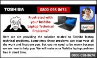 How to Resolve Toshiba Laptop Technical Problems?