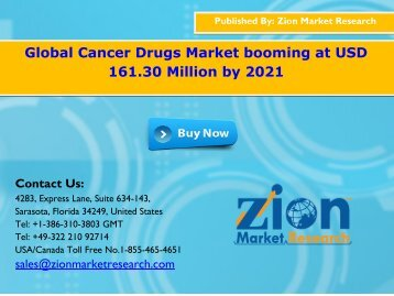 Global Cancer Drugs Market, 2016 – 2022