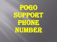 Pogo Technical Support 1-888-827-9060