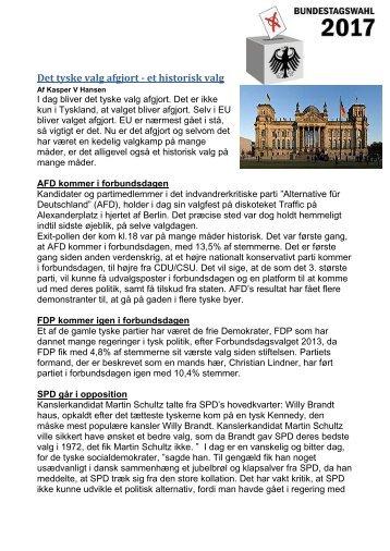 Det tyske valg Afgjort - et Historisk valg