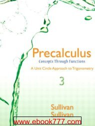 Precalculus with Geometry and Trigonometry - Math Sciences