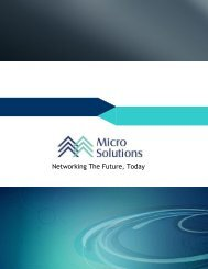 Networking The Future, Today - Micro Solutions