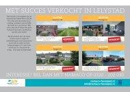 NAMACO Flevoland, Verkocht flyer Lelystad maand september
