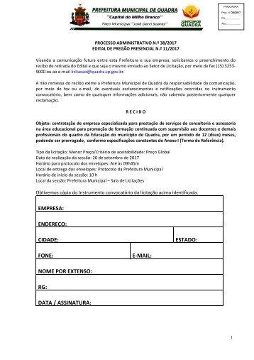 Edital Pregão Presencial PMQ 11_2017_Consultoria e assessoria na área educacional