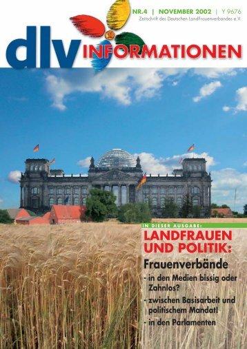 LANDFRAUEN UND POLITIK - Deutscher LandFrauenverband e.V.