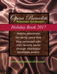 Opera Bracelets Holiday Book 2017