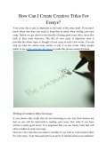 How Can I Create a Creative Titles for Essays? - Page 2
