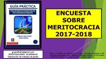ENCUESTA DE MERITOCRACIA
