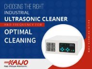 Choosing the Right Industrial Ultrasonic Cleaner for Optimum Cleaning