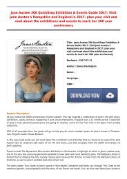 Jane Austen 200 QuickStep Exhibition  Events Guide 2017  Visit Jane Austens Hampshire and England