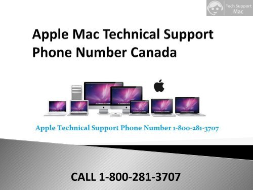 Apple Mac Support Phone Number 1-800-281-3707 Canada