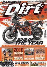 Dirt and Trail Magazine October 2017 issue