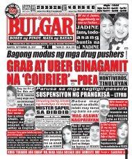 SEPTEMBER 26, 2017 BULGAR: BOSES NG PINOY, MATA NG BAYAN
