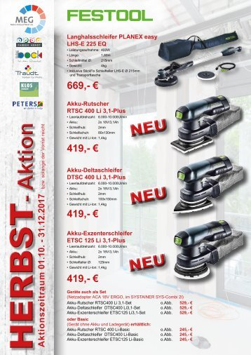 Herbst-Aktion 01.10.-31.12.2017