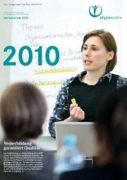 Jahresbericht 2010 - Physio Austria