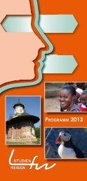 übersicht 2013 - LFW Studienreisen