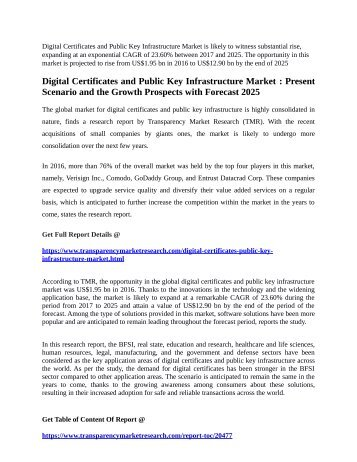 Digital Certificates and Public Key Infrastructure Market