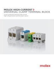 Molex UNIVERSAL CLAMP TERMINAL BLOCK
