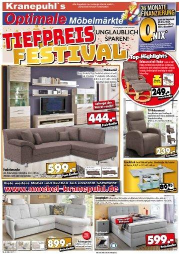 Kranepuhls optimale Möbelmärkte - Tiefpreis-Festival: unglaublich sparen!
