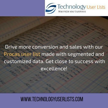 Procas Users Email List
