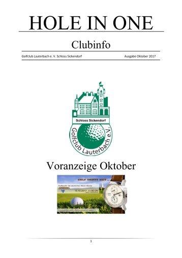 Clubinfo Oktober 2017