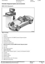 SBT Kinematic Diagnosis System and environment BMW KDS ...