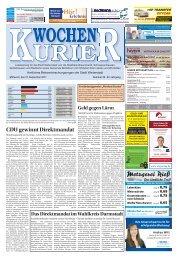 Wochen-Kurier 39/2017 - Lokalzeitung für Weiterstadt und Büttelborn