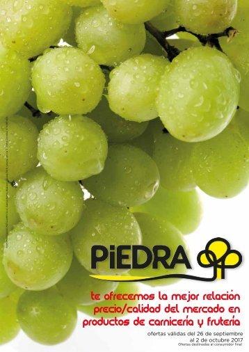 Supermercados PIEDRA Ofertas frescos hasta 2 de Octubre 2017