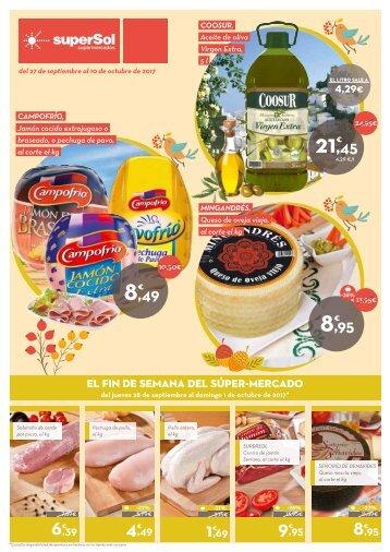 Ofertas superSol supermercados del 27 de Septiembre al 10 de Octubre 2017