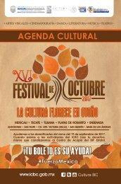 Agenda Festival de Octubre 2017