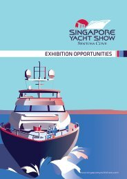 SINGAPORE YACHT SHOW 2018 EXHIBITION OPPORTUNITIES
