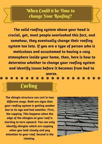 When Could it be Time to change Your Roofing-