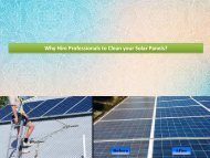 Why Hire Professionals to Clean your Solar Panels?