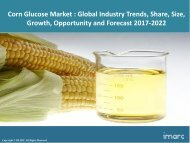 Global Corn Glucose Market Share, Size, Trends and Forecast 2017-2022