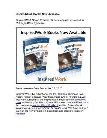 InspiredWork Books Now Available