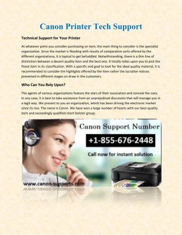 Canon Help Support Number +1-855-676-2448
