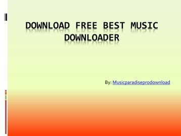 Download Free Best Music Downloader