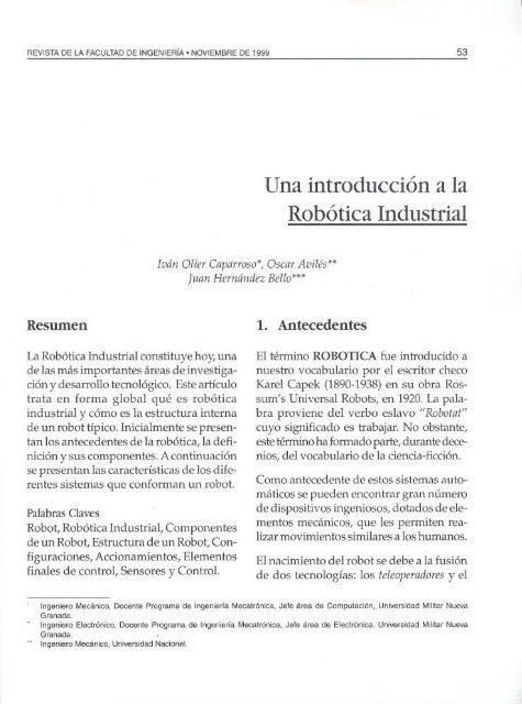 Introduccion A La Robotica Industrial