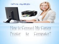 How to Connect My Canon Printer to Computer?