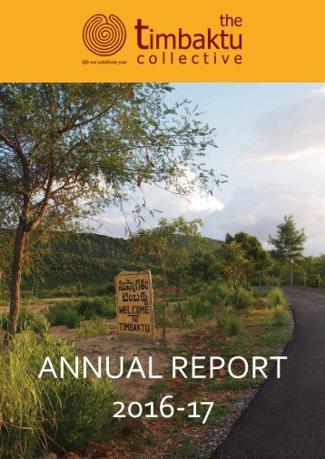 Timbaktu Collective - Annual Report 2016-17