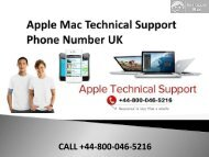 Apple Mac Technical Support Phone Number UK +44-800-046-5216