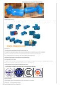 P.V series industrial helical heavy duty industrial gearbox P3SH11 series gear unit for sugar  - Page 2