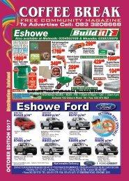 pgs 1 - 40 Coffee Break Magazine October 2017 , Eshowe, Zululand, KwaZulu Natal, South Africa