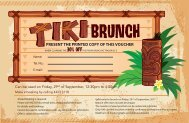 TIKI BRUNCH 29th SEP