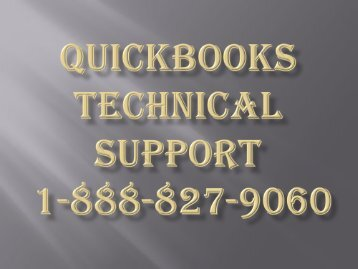 Quickbooks Customer Support 1-888-827-9060