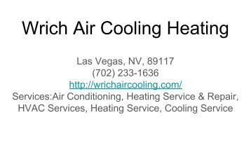 Wrich Air Cooling Heating