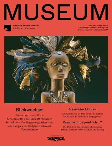 MUSEUM IV 2017 - Programmheft der Staatlichen Museen zu Berlin