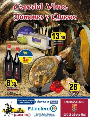 E.Leclerc especial Vinos, Jamones y Quesos hasta 14 Octubre 2017